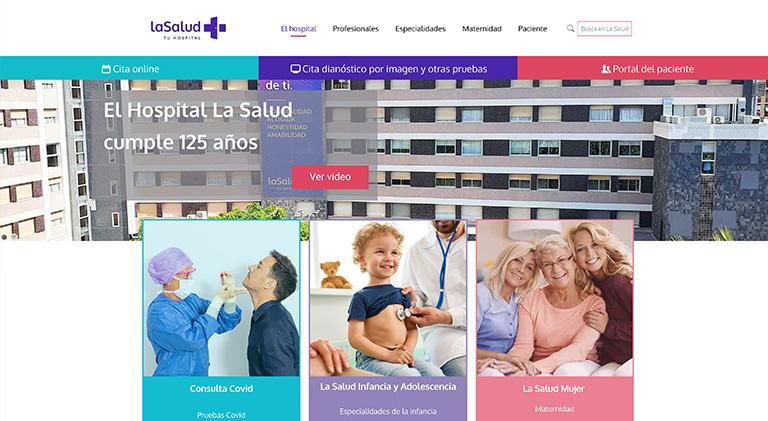 nueva web lasalud